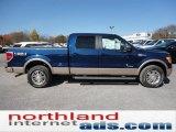 2011 Dark Blue Pearl Metallic Ford F150 King Ranch SuperCrew 4x4 #55708981