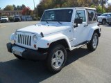 2012 Bright White Jeep Wrangler Sahara 4x4 #55709522