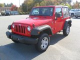 2012 Flame Red Jeep Wrangler Sport 4x4 #55709521