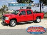 2008 Victory Red Chevrolet Silverado 1500 LT Crew Cab 4x4 #55709510