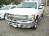 2012 White Diamond Tricoat Chevrolet Silverado 1500 LT Crew Cab 4x4 #55708910