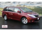 2012 Salsa Red Pearl Toyota Sienna LE #55708885