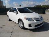 2011 Super White Toyota Corolla LE #55709173