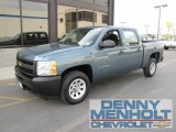 2010 Blue Granite Metallic Chevrolet Silverado 1500 Crew Cab #55709463
