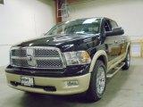 2012 Black Dodge Ram 1500 Laramie Longhorn Crew Cab 4x4 #55757170