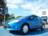 2012 Blue Candy Metallic Ford Focus SE SFE Sedan #55756697