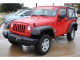 2011 Flame Red Jeep Wrangler Sport 4x4 #55756896
