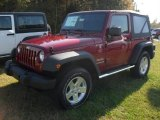 2012 Deep Cherry Red Crystal Pearl Jeep Wrangler Sport S 4x4 #55757055