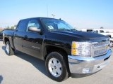 2012 Black Chevrolet Silverado 1500 LT Crew Cab 4x4 #55779460