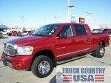 2007 Inferno Red Crystal Pearl Dodge Ram 1500 Laramie Mega Cab 4x4 #55757033