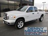 2008 Bright White Dodge Ram 1500 ST Quad Cab 4x4 #55757029