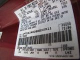 1995 F150 Color Code for Electric Currant Red Pearl - Color Code: EG