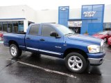 2008 Electric Blue Pearl Dodge Ram 1500 Big Horn Edition Quad Cab 4x4 #55779391