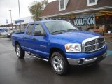 2007 Electric Blue Pearl Dodge Ram 1500 Big Horn Edition Quad Cab 4x4 #55756812