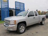2012 Silver Ice Metallic Chevrolet Silverado 1500 LT Extended Cab 4x4 #55779301