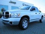 2007 Bright White Dodge Ram 1500 SLT Quad Cab #55756755