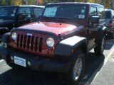 2012 Deep Cherry Red Crystal Pearl Jeep Wrangler Rubicon 4X4 #55779216