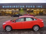 2012 Race Red Ford Focus SEL Sedan #55846649