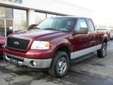 2006 Dark Toreador Red Metallic Ford F150 XLT SuperCab 4x4 #5560178