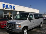 2008 Silver Metallic Ford E Series Van E350 Super Duty XLT Passenger #5560183