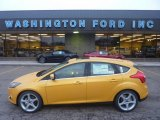2012 Yellow Blaze Tricoat Metallic Ford Focus Titanium 5-Door #55875129