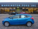 2012 Blue Candy Metallic Ford Focus Titanium 5-Door #55875128