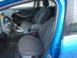 2012 Ford Focus Titanium 5-Door Charcoal Black Interior