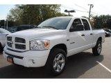 2008 Bright White Dodge Ram 1500 SLT Quad Cab 4x4 #55875296