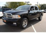 2009 Brilliant Black Crystal Pearl Dodge Ram 1500 Sport Crew Cab 4x4 #55875294