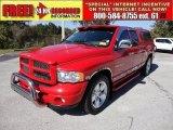 2004 Flame Red Dodge Ram 1500 Laramie Quad Cab #55875291