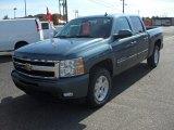 2011 Blue Granite Metallic Chevrolet Silverado 1500 LTZ Crew Cab 4x4 #55875284