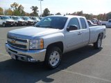 2012 Silver Ice Metallic Chevrolet Silverado 1500 LT Extended Cab 4x4 #55875275