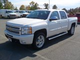2012 White Diamond Tricoat Chevrolet Silverado 1500 LTZ Crew Cab 4x4 #55875273