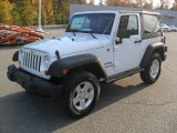 2012 Bright White Jeep Wrangler Sport S 4x4 #55875259