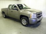 2008 Graystone Metallic Chevrolet Silverado 1500 Work Truck Extended Cab #55875218