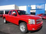 2012 Victory Red Chevrolet Silverado 1500 LT Extended Cab 4x4 #55956526