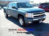 2011 Blue Granite Metallic Chevrolet Silverado 1500 LT Crew Cab 4x4 #55956785