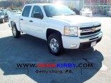 2011 Summit White Chevrolet Silverado 1500 LT Crew Cab 4x4 #55956784