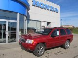 2002 Inferno Red Tinted Pearlcoat Jeep Grand Cherokee Limited 4x4 #55956444