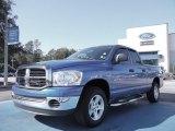 2007 Electric Blue Pearl Dodge Ram 1500 SLT Quad Cab #55956429