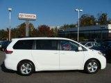 2011 Super White Toyota Sienna LE #55956622