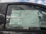 2012 Toyota Tundra SR5 CrewMax Window Sticker