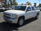 2012 White Diamond Tricoat Chevrolet Silverado 1500 LT Crew Cab 4x4 #55956903