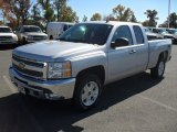 2012 Silver Ice Metallic Chevrolet Silverado 1500 LT Extended Cab 4x4 #55956901