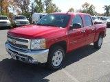 2012 Victory Red Chevrolet Silverado 1500 LT Crew Cab 4x4 #55956898