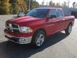 2012 Flame Red Dodge Ram 1500 Big Horn Quad Cab 4x4 #55956895