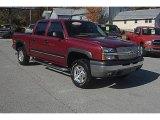 2004 Sport Red Metallic Chevrolet Silverado 1500 Z71 Crew Cab 4x4 #55956881