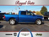 2010 Deep Water Blue Pearl Dodge Ram 1500 Big Horn Crew Cab #56013524