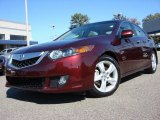 2009 Basque Red Pearl Acura TSX Sedan #56013511