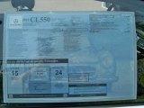 2012 Mercedes-Benz CL 550 4MATIC Window Sticker